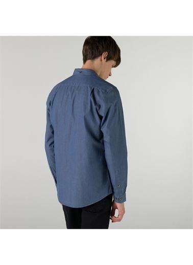 Lacoste Lacoste Erkek Slim Fit Açık Denim Gömlek Mavi